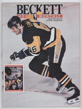 1990-Now Beckett Hockey - [Base] #10 - August 1991 (Mario Lemieux)
