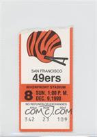 Decmeber 9 vs. San Francisco 49ers [Good to VG‑EX]
