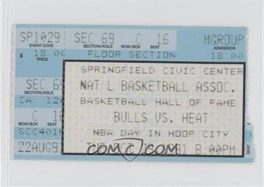 1991-92 Chicago Bulls Ticket Stubs #10-29 - vs. Miami Heat