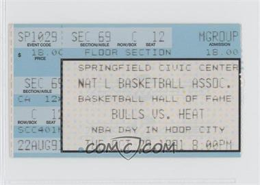 1991-92 Chicago Bulls Ticket Stubs #N/A - [Missing]