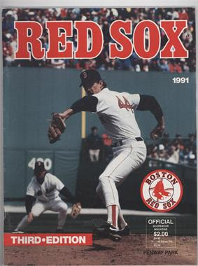 1991 Boston Red Sox Official Scorebook Magazine #3 - Danny Darwin