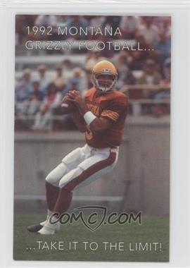 1992 Montana Grizzlies Football Team Schedules #BRLE - Brad Lebo