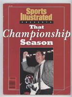 That Championship Season: Alabama Crimson Tide Football (Gene Stallings) [Good&…