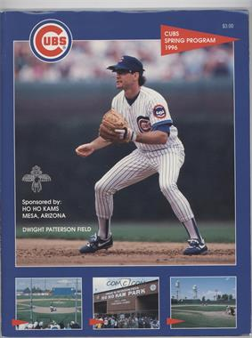 1996 Chicago Cubs Game Programs #RYSA - Spring Training (Ryne Sandberg) [Good to VG‑EX]