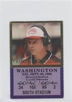 vs. Washington Huskies (Frank Solich) [Good to VG‑EX]