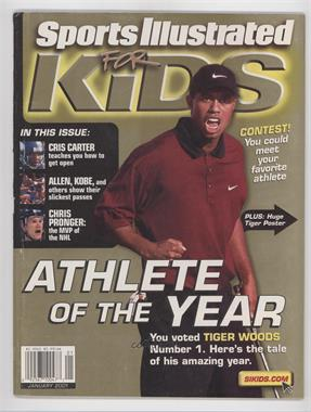 2001 Sports Illustrated for Kids #1 - January (Tiger Woods) [Good to VG‑EX]