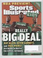 November (Ray Allen, Kevin Garnett, Paul Pierce) [Good to VG‑EX]