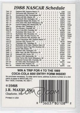 1988 Maxx #36.1 - Checklist #2 (#43: Daytona Int. Speedway)