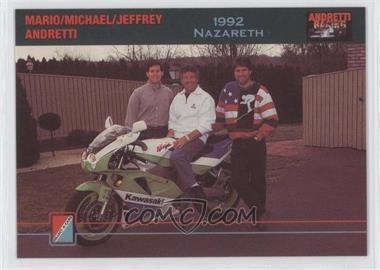 1992 Collect-A-Card Andretti Racing - [Base] #76 - Mario Andretti, Michael Andretti, Jeffrey Andretti