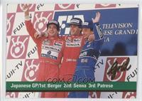 Gerhard Berger, Ayrton Senna, Riccardo Patrese