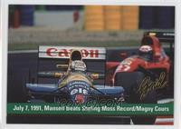 July 7, 1991, Mansell Bears Stirling Moss Record/Magny Cours