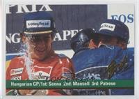 Ayrton Senna, Nigel Mansell, Riccardo Patrese