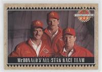 Bill Elliott, Dale Earnhardt, Davey Allison