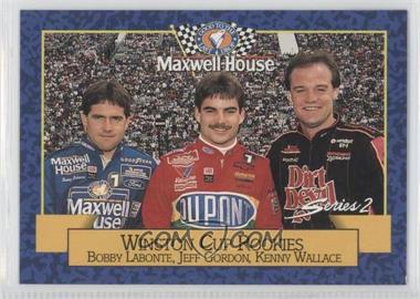 1993 Maxwell House Series 1 Food Issue [Base] #24 - Bobby Labonte, Jeff Gordon, Kenny Wallace