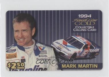 1994 Finish Line Gold Collectible Calling Cards $2.50 #N/A - Mark Martin
