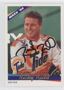 1994 Maxx Autographs #5 - Ricky Rudd