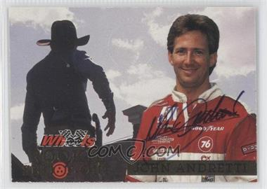 1994 Wheels High Gear Rookie Shoot-Out [Autographed] #RS7 - John Andretti /1000