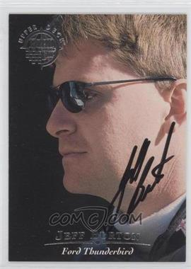 1996 Upper Deck Road to the Cup Autographs #H30 - Jeff Burton
