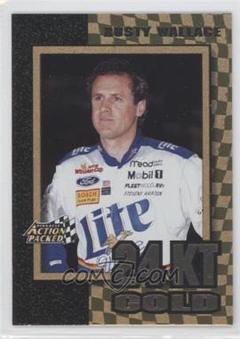 1997 Pinnacle Action Packed 24 Karat Gold #1 - Rusty Wallace