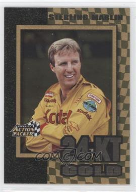 1997 Pinnacle Action Packed 24 Karat Gold #9 - Sterling Marlin