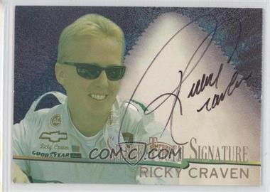 1997 Wheels Race Sharks Shark Tooth Signatures #7 - Ricky Craven