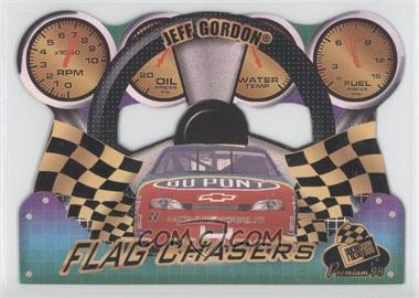 1998 Press Pass Premium Flag Chasers Reflectors #FC 24 - Jeff Gordon
