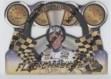 1998 Press Pass Premium Flag Chasers Reflectors #FC 6 - Rusty Wallace
