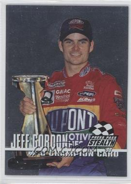 1998 Press Pass Stealth - Champion Card - Silver #0 - Jeff Gordon