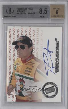1999 Press Pass Signings #TELA - Terry Labonte [BGS 8.5]