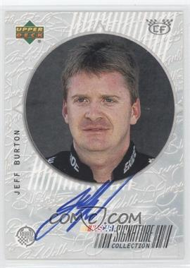 1999 Upper Deck Road to the Cup Signature Collection Checkered Flag #JB - Jeff Burton