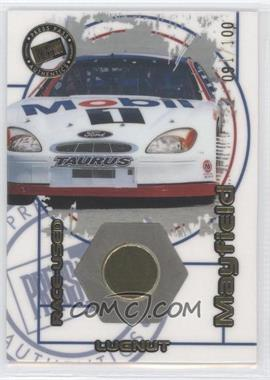 2000 Press Pass Optima Race-Used Lugnuts Car #LC 10 - Jeremy Mayfield /100