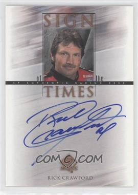 2000 SP Authentic Sign of the Times #CR - Rick Crawford