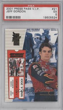 2001 Press Pass VIP #21 - Jeff Gordon [PSA 5]