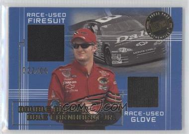 2002 Press Pass Double Burner Race-Used Material #DB 1 - Dale Earnhardt Jr. /100