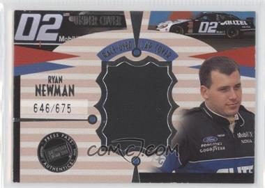 2002 Press Pass Eclipse - Under Cover Race-Used Car Covers - Driver #CD 9 - Ryan Newman /675