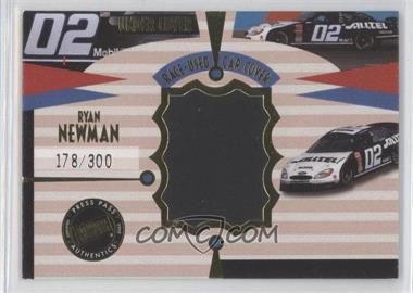 2002 Press Pass Eclipse - Under Cover Race-Used Car Covers - Gold Car #CC 9 - Ryan Newman /300