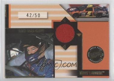 2002 Press Pass Stealth Race-Used Gloves Driver #GLD 4 - Terry Labonte /50