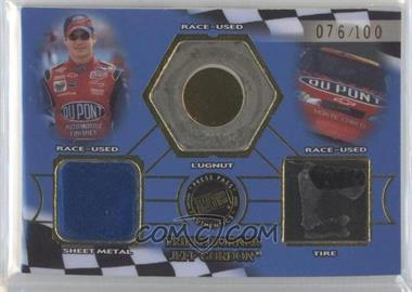 2002 Press Pass Triple Burner Race-Used Material #TB 2 - Jeff Gordon /100