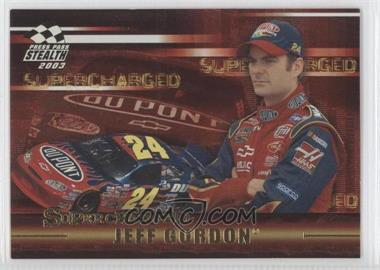 2003 Press Pass Stealth Supercharged #SC 1 - Jeff Gordon