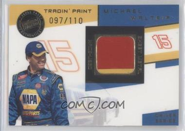 2003 Press Pass VIP - Tradin' Paint Race-Used - Drivers #TPD 15 - Michael Waltrip /110