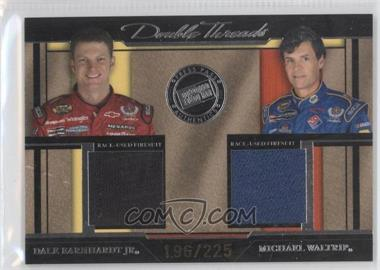 2005 Press Pass Legends Double Threads Silver #DT/EW - Dale Earnhardt Jr., Michael Waltrip /225
