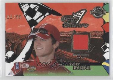 2005 Wheels High Gear Flag Chasers Race-Used Flag Silver #FC 1 - Kasey Kahne /55