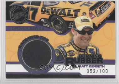 2006 Press Pass - Burning Rubber Race-Used Tire - Driver Silver #BRD 10 - Matt Kenseth /100