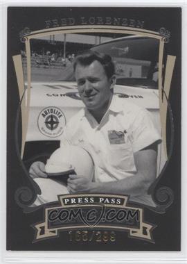 2006 Press Pass Legends - [Base] - Gold #G11 - Fred Lorenzen /299