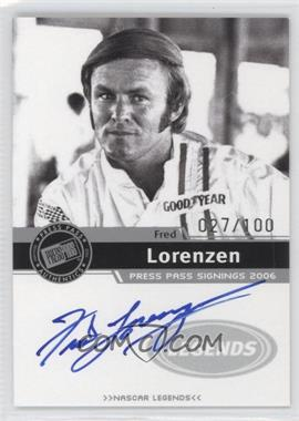 2006 Press Pass Press Pass Signings Silver [Autographed] #FRLO - Fred Lorenzen /100
