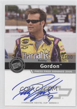 2006 Press Pass Press Pass Signings Silver [Autographed] #ROGO - Robby Gordon /100