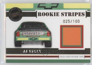 2006 Press Pass VIP Rookie Stripes Tape #RS 6 - J.J. Yeley /100