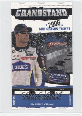 2006 Wheels American Thunder Grandstand #GS10 - Jimmie Johnson