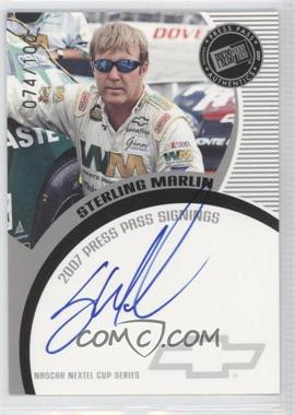 2007 Press Pass - Press Pass Signings - Silver #STMA - Sterling Marlin /100