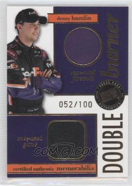 2007 Press Pass Double Burner Race-Used Firesuit/Glove #DB-DH - Denny Hamlin /100